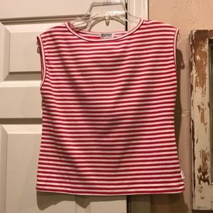 ESPRIT striped sleeveless top. EUC